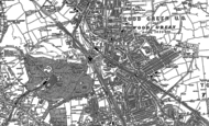Old Map of Wood Green, 1894 - 1896