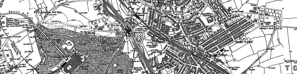 Old map of Alexandra Palace in 1894