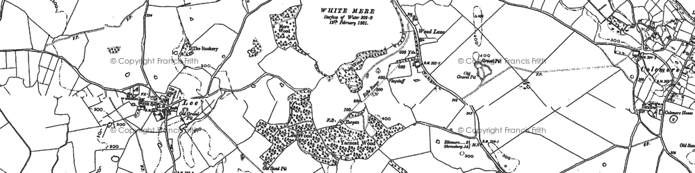 Old map of Yarnest Wood in 1874