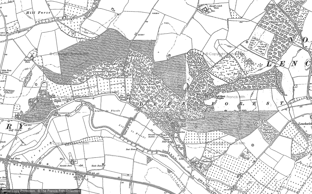 Old Map of Wood Norton, 1884 - 1885 in 1884