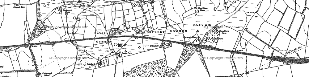 Old map of Wood Street Village in 1895