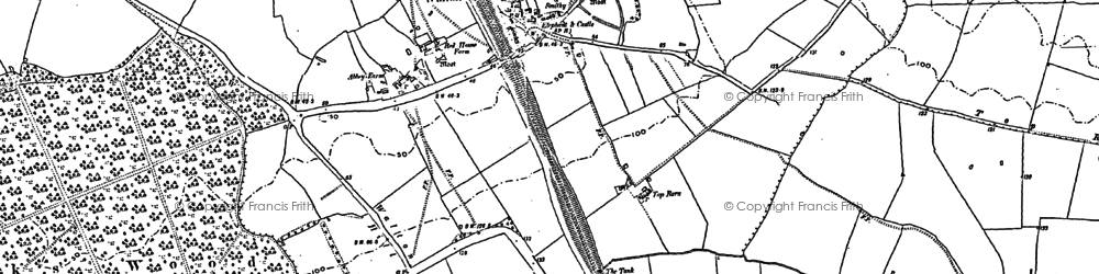 Old map of Wheatley's Drain in 1887