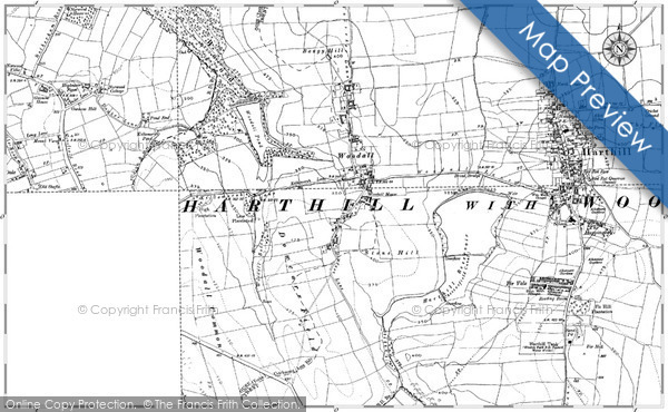 Old Map of Woodall, 1901 - 1929 in 1901