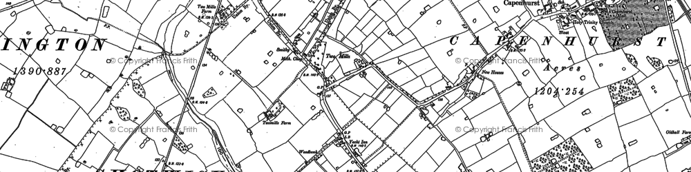 Old map of Woodbank in 1897