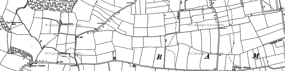 Old map of Woodbeck in 1884