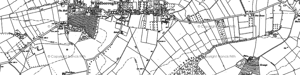 Old map of Woodborough in 1883