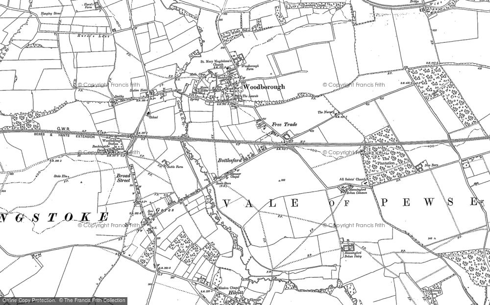 Old Map of Woodborough, 1899 in 1899