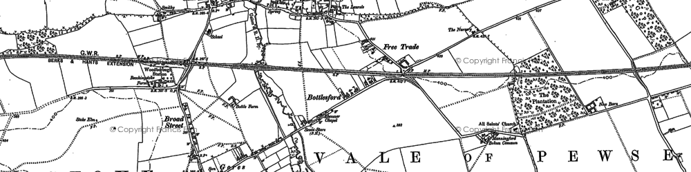 Old map of Woodborough in 1899