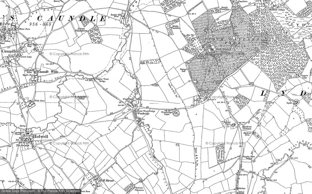 Old Map of Woodbridge, 1886 in 1886