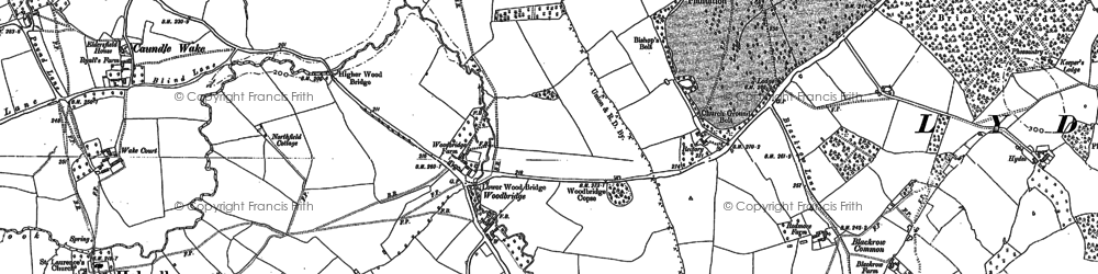 Old map of Woodbridge in 1886