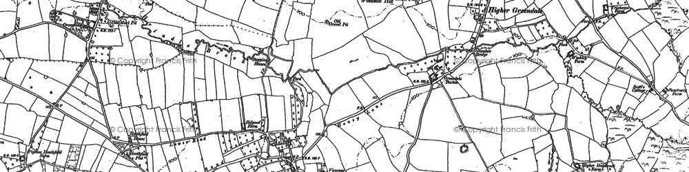 Old map of Woodbury Salterton in 1888