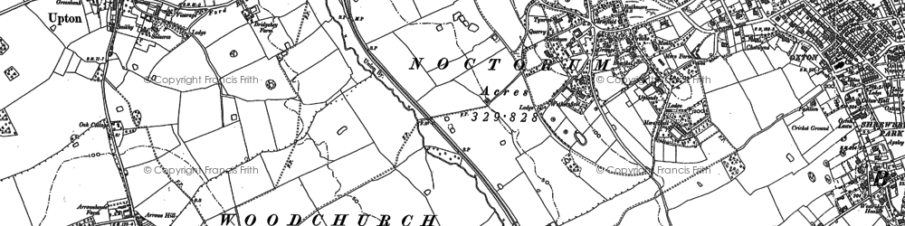 Old map of Woodchurch in 1909