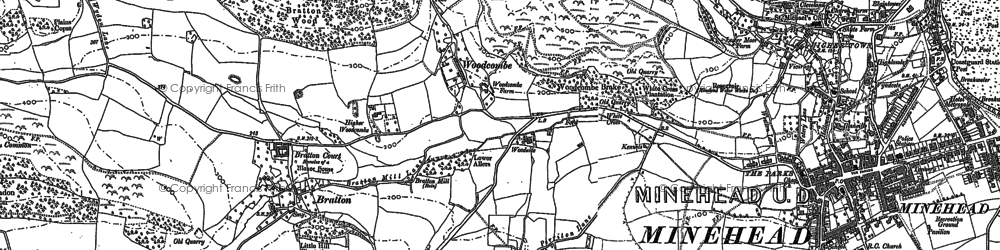Old map of Tivington Common in 1902