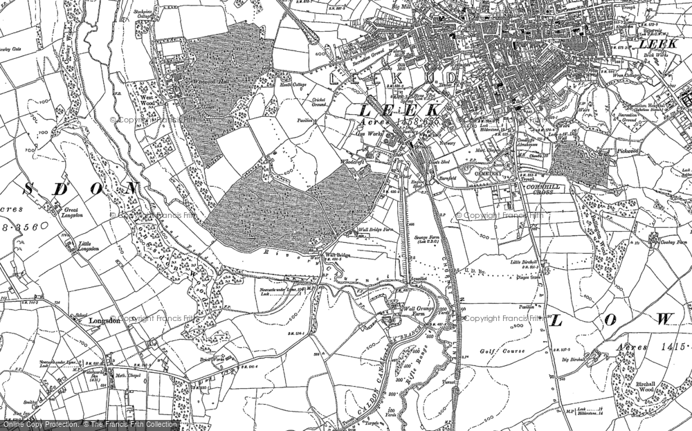 Old Map of Woodcroft, 1879 - 1898 in 1879
