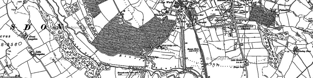 Old map of Westwood Hall Sch in 1879