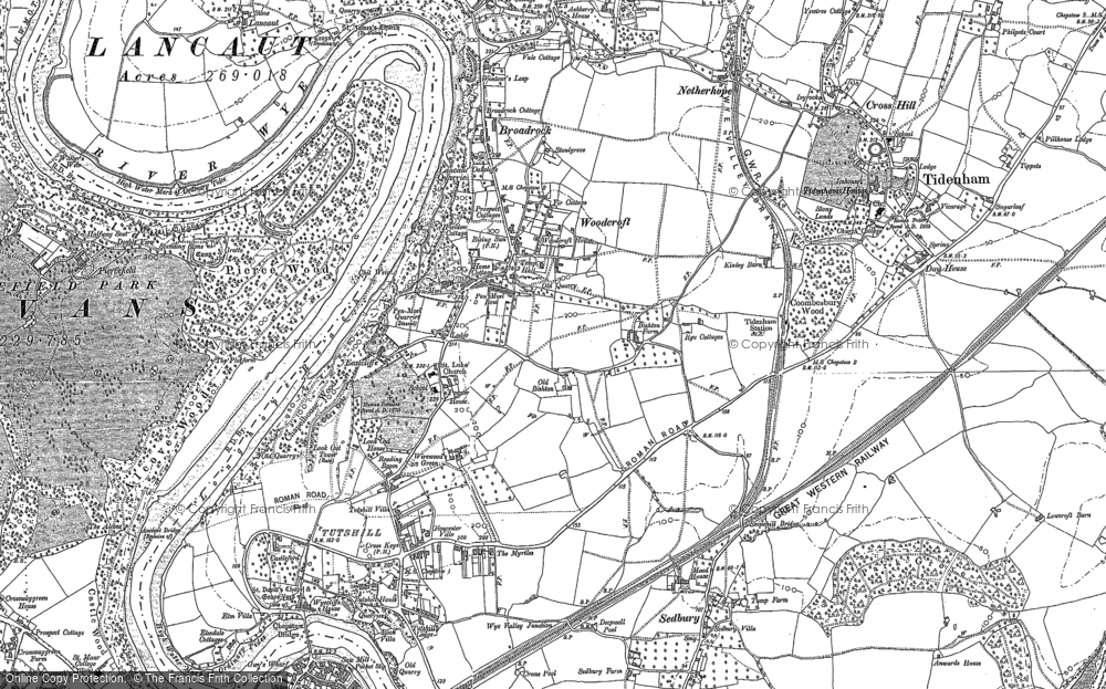 Old Map of Historic Map covering Ashberry Ho in 1900