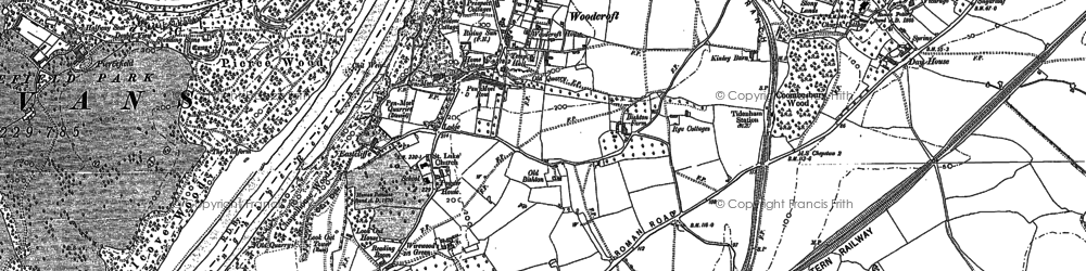 Old map of Woodcroft in 1900