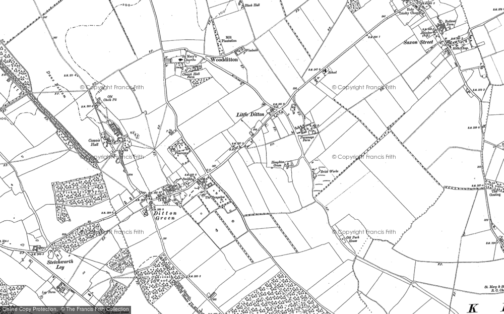 Old Map of Woodditton, 1901 in 1901