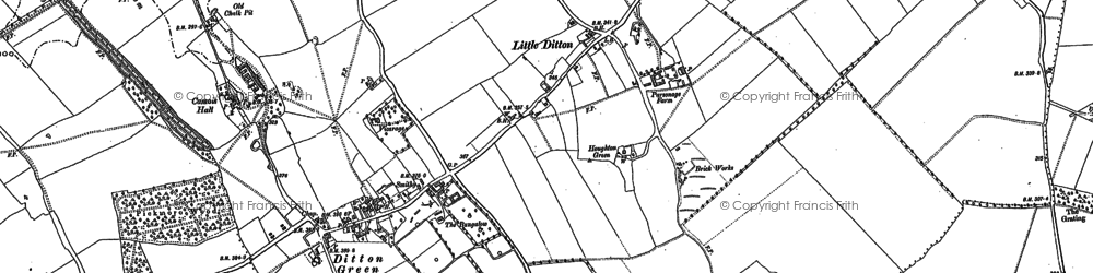 Old map of Woodditton in 1901