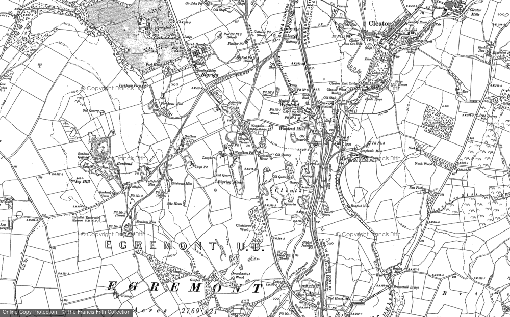Old Map of Woodend, 1923 in 1923
