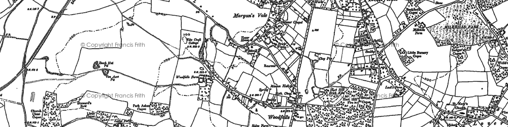 Old map of Woodfalls in 1900