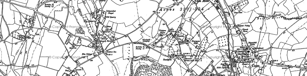Old map of Woodfield in 1882
