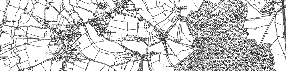 Old map of Woodford in 1879