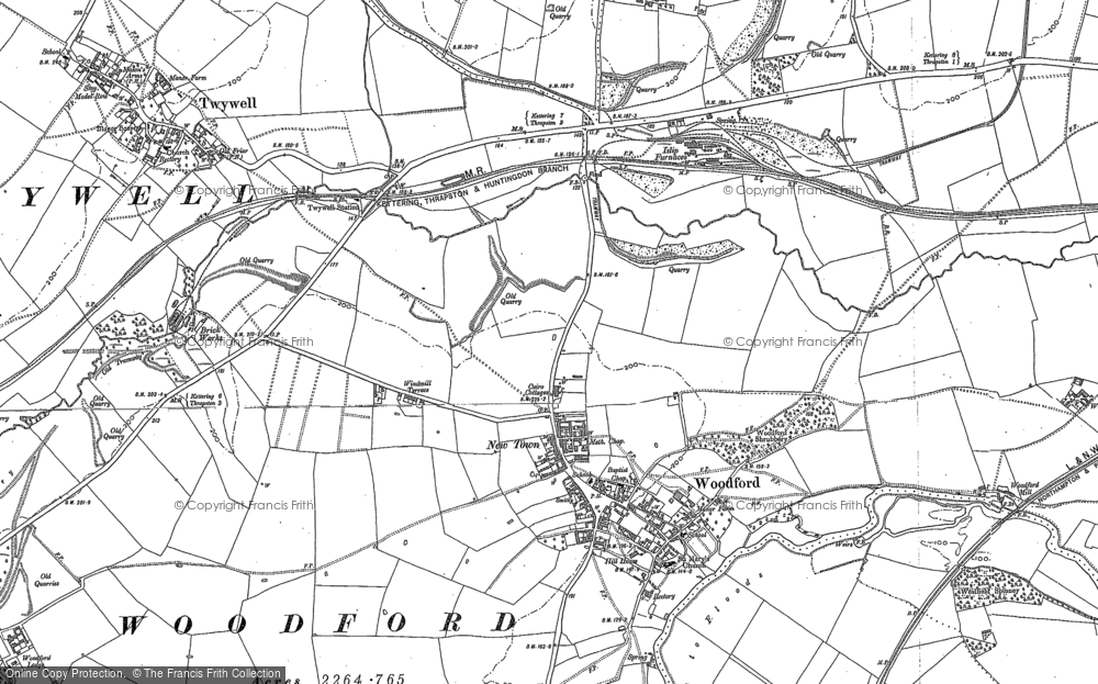Old Map of Woodford, 1895 in 1895