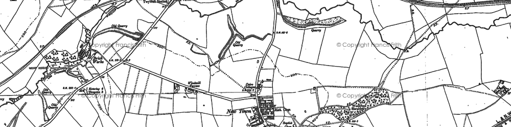Old map of Woodford in 1895