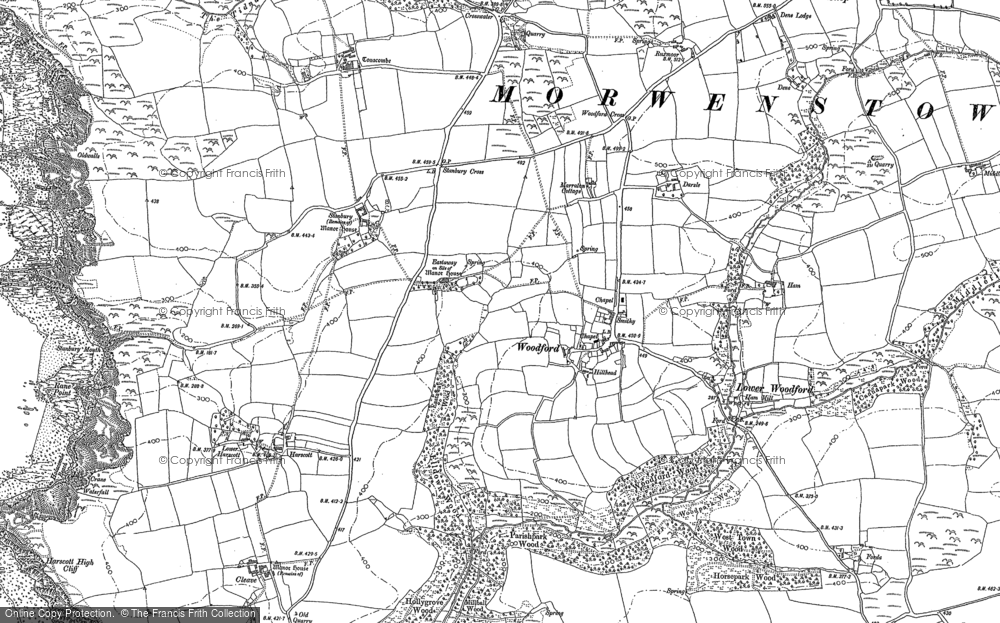 Old Map of Historic Map covering Woodford Cross in 1905