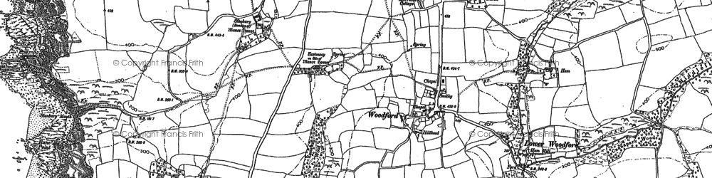 Old map of Lee Barton in 1905