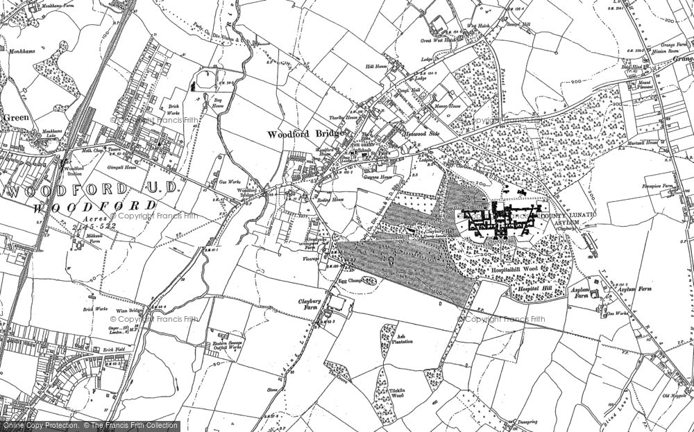 Map of Woodford Bridge, 1895