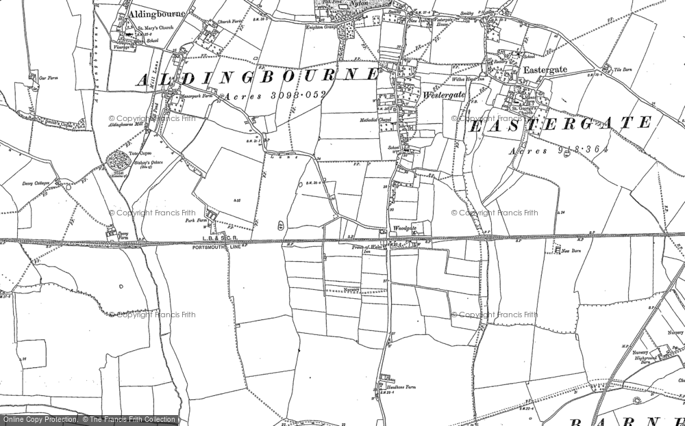 Old Map of Historic Map covering Lidsey in 1847
