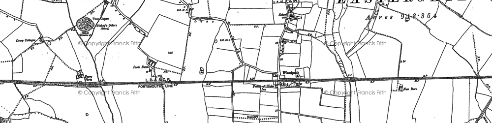 Old map of Woodgate in 1847