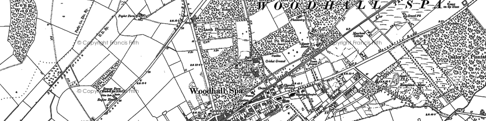 Old map of Woodhall Spa in 1886