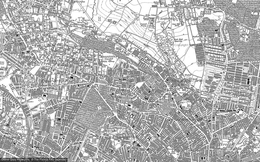 Old Map of Woodhouse, 1847 - 1892 in 1847