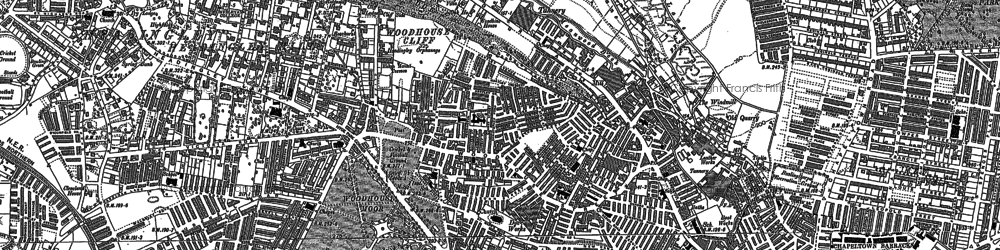 Old map of Woodhouse in 1847