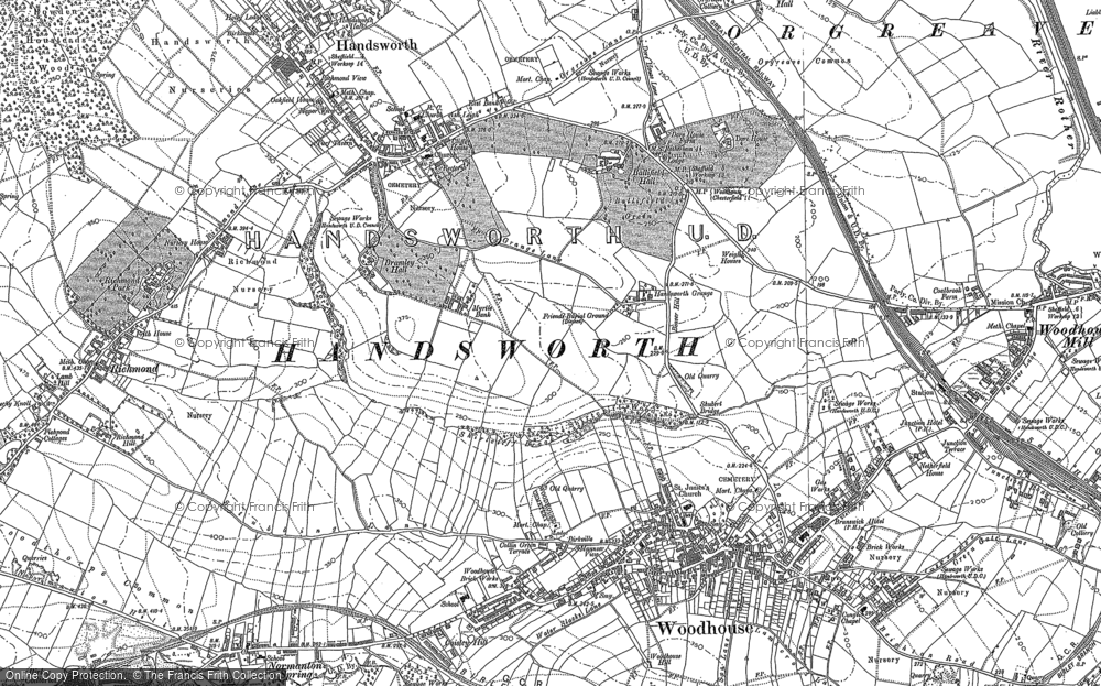 Old Map of Woodhouse, 1851 - 1902 in 1851
