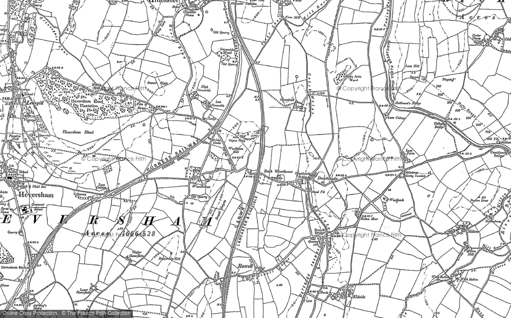 Old Map of Woodhouse, 1896 - 1897 in 1896