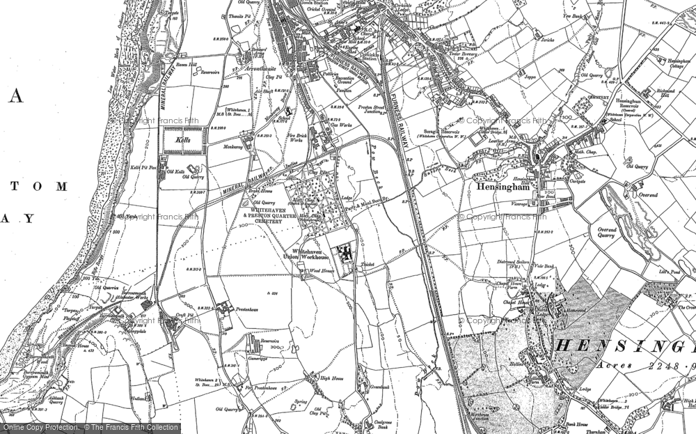 Old Map of Woodhouse, 1923 in 1923
