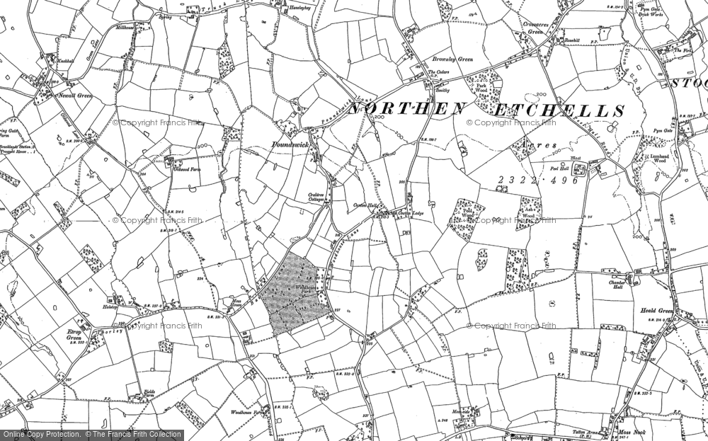 Old Map of Woodhouse Park, 1897 in 1897