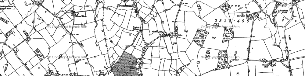 Old map of Woodhouse Park in 1897