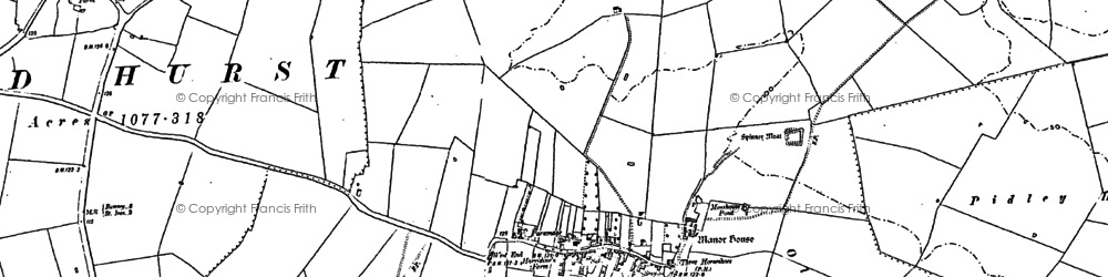 Old map of Woodhurst in 1887