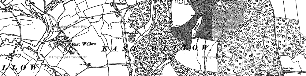 Old map of Woodington in 1895