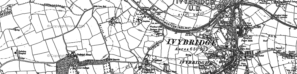 Old map of Woodland in 1886