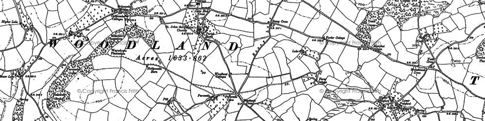 Old map of Wickeridge in 1886