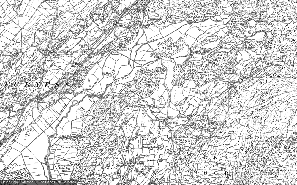 Old Map of Historic Map covering Woodland Grove in 1911