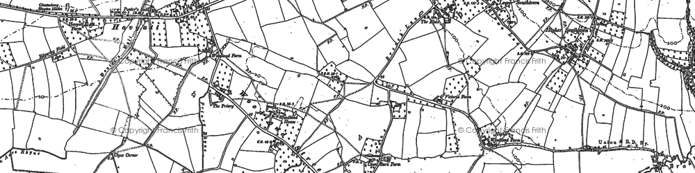 Old map of Woodlands in 1885
