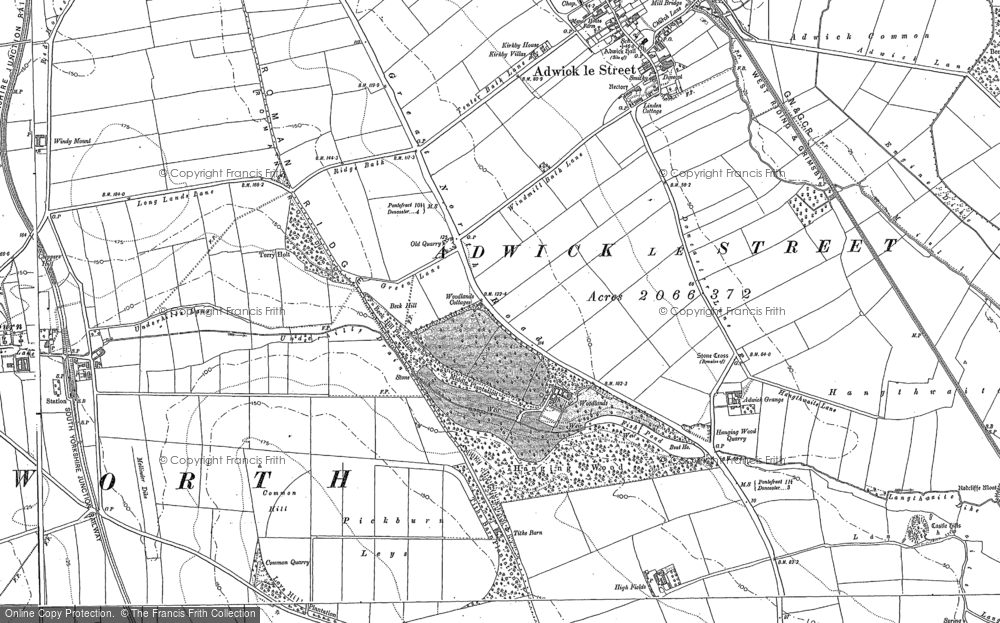 Old Map of Woodlands, 1891 in 1891
