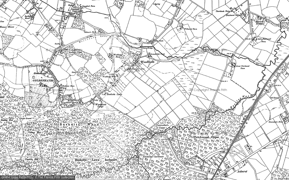 Old Map of Woodlands, 1895 - 1896 in 1895